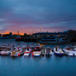 Early morning at the port of Reykjavik